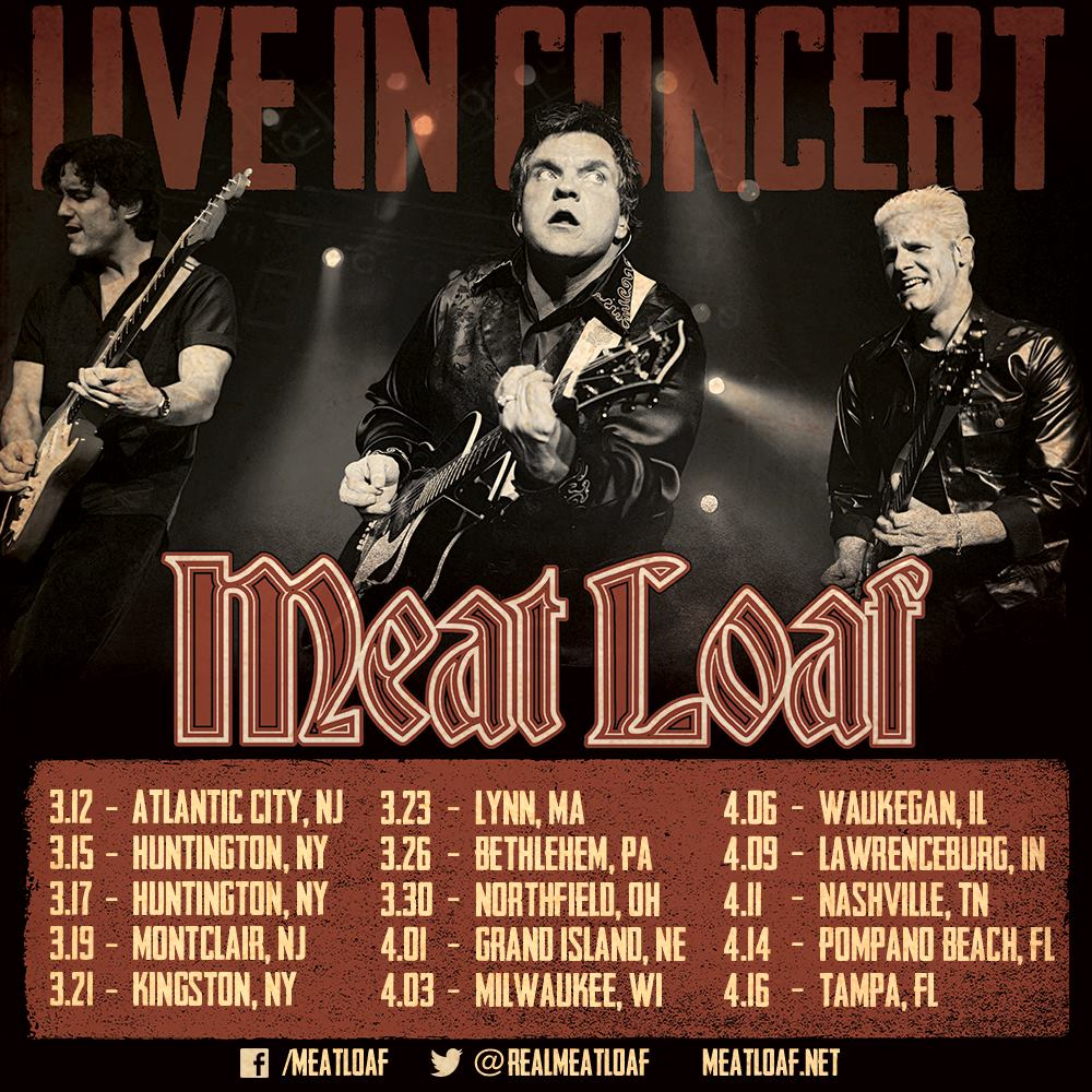 Meatloaf tour dates in Perth